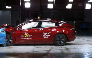 Rezultate Euro NCAP: Tesla Model 3, cel mai bun rezultat pentru sisteme de asistență. Skoda Scala, cea mai bună protecție pentru pasagerul din dreapta