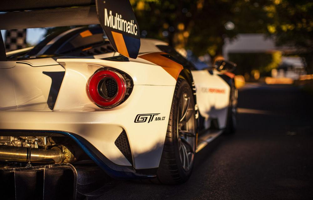 Ford a dezvăluit o versiune de circuit a supercarului GT: noul Ford GT Mk II are 700 de cai putere și costă un milion de euro - Poza 5