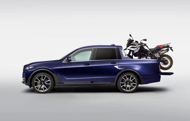Proiect inedit: un BMW X7 a fost transformat în pick-up de stagiarii din cadrul uzinei din Munchen - Poza 6