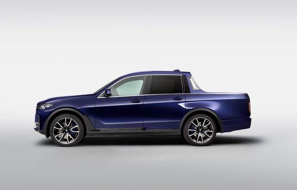 Proiect inedit: un BMW X7 a fost transformat în pick-up de stagiarii din cadrul uzinei din Munchen - Poza 5