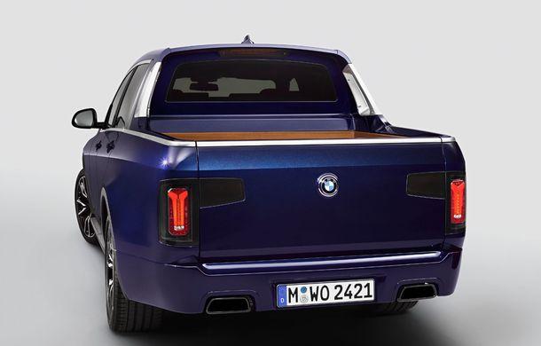 Proiect inedit: un BMW X7 a fost transformat în pick-up de stagiarii din cadrul uzinei din Munchen - Poza 7