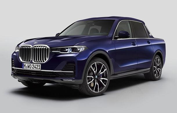 Proiect inedit: un BMW X7 a fost transformat în pick-up de stagiarii din cadrul uzinei din Munchen - Poza 1