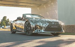 Lexus LC Convertible Prototype a fost expus la Goodwood: versiunea de serie va fi lansată