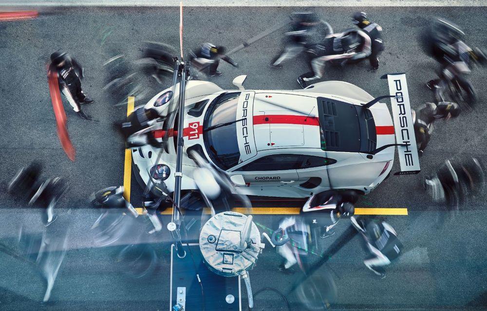 Îmbunătățiri pentru versiunea de circuit Porsche 911 RSR: motor boxer de 4.2 litri amplasat central și până la 515 CP - Poza 11