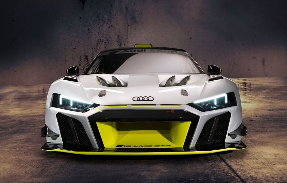 Audi a lansat noul R8 LMS GT2: versiunea de competiții cântărește 1.350 de kilograme și promite 640 CP - Poza 2
