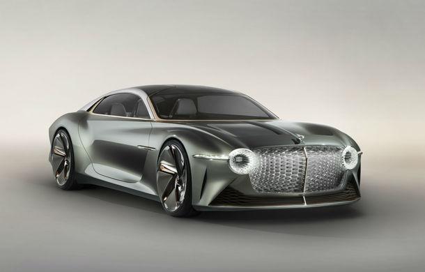 Bentley prezintă conceptul electric EXP 100 GT: autonomie de 700 de kilometri, viteză maximă de 300 km/h și cuplu de 1.500 Nm - Poza 1