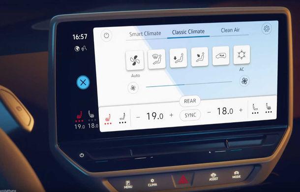 Primele imagini cu interiorul lui Volkswagen ID.3: hatchback-ul electric va fi prezentat oficial în septembrie - Poza 3