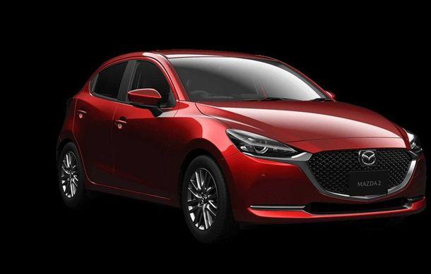 Mazda 2 facelift, poze și detalii oficiale: modificări exterioare minore, tehnologii noi și motorizări mild-hybrid - Poza 4