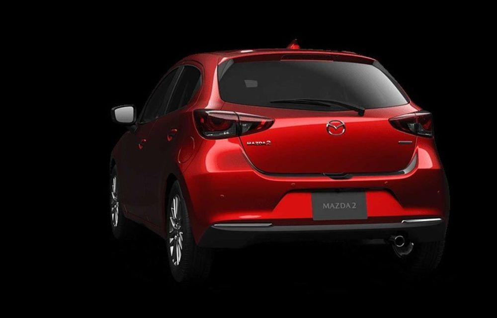 Mazda 2 facelift, poze și detalii oficiale: modificări exterioare minore, tehnologii noi și motorizări mild-hybrid - Poza 10