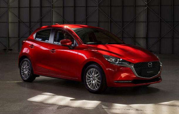 Mazda 2 facelift, poze și detalii oficiale: modificări exterioare minore, tehnologii noi și motorizări mild-hybrid - Poza 1