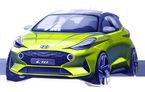 Prima schiță oficială cu noul Hyundai i10: modelul de oraș va fi dezvăluit în septembrie, la Frankfurt