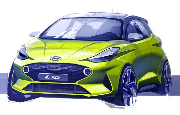 Prima schiță oficială cu noul Hyundai i10: modelul de oraș va fi dezvăluit în septembrie, la Frankfurt - Poza 1