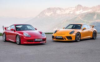 Aniversare în familia Porsche: versiunea 911 GT3 împlinește 20 de ani