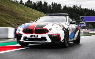 Noul BMW M8 a devenit Safety Car pentru Moto GP: modelul oferă 625 de cai putere și este bazat pe varianta Competition