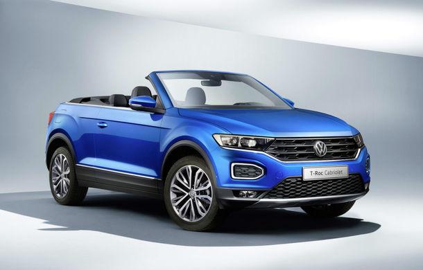Volkswagen prezintă noul T-Roc Cabriolet: SUV-ul cu plafon soft-top are 2 motoare pe benzină de 115 și 150 de cai putere - Poza 1