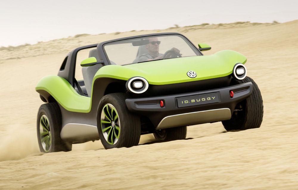 Volkswagen ID Buggy ar putea primi o versiune de serie: varianta de pre-producție a debutat în off-road la Concursul de Eleganță de la Pebble Beach - Poza 1