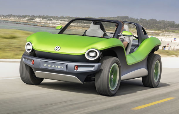 Volkswagen ID Buggy ar putea primi o versiune de serie: varianta de pre-producție a debutat în off-road la Concursul de Eleganță de la Pebble Beach - Poza 6