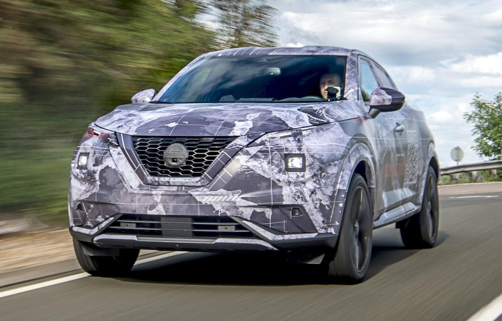 Primele imagini camuflate cu noua generație Nissan Juke: SUV-ul subcompact va avea jante de 19 inch, ampatament mărit și sistem ProPilot - Poza 5