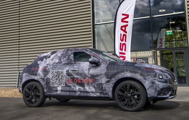Primele imagini camuflate cu noua generație Nissan Juke: SUV-ul subcompact va avea jante de 19 inch, ampatament mărit și sistem ProPilot - Poza 17