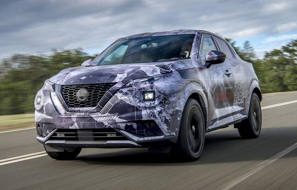 Primele imagini camuflate cu noua generație Nissan Juke: SUV-ul subcompact va avea jante de 19 inch, ampatament mărit și sistem ProPilot - Poza 3
