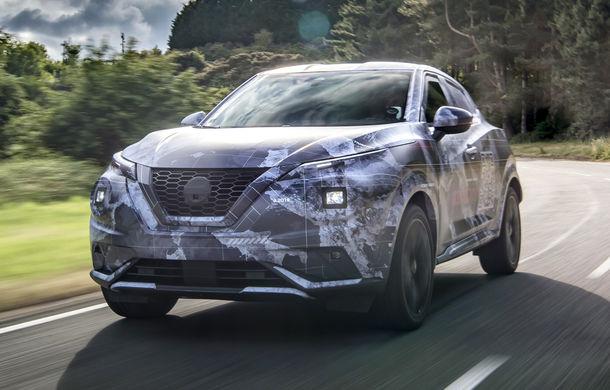 Primele imagini camuflate cu noua generație Nissan Juke: SUV-ul subcompact va avea jante de 19 inch, ampatament mărit și sistem ProPilot - Poza 6