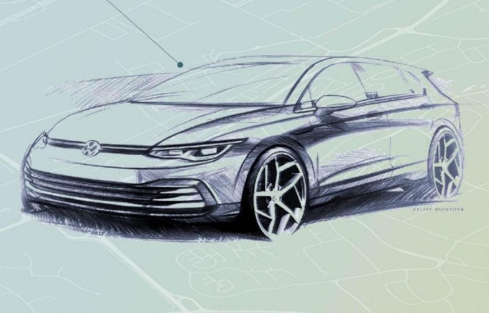 Volkswagen își va schimba logo-ul în luna septembrie: primul model cu noua emblemă va fi Golf 8 - Poza 1
