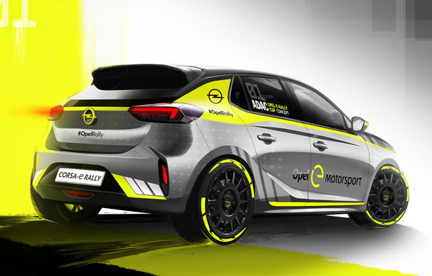 Opel anunță o versiune pentru raliuri a hatchback-ului electric Corsa-e: modelul va debuta în propria competiție în 2020 - Poza 9
