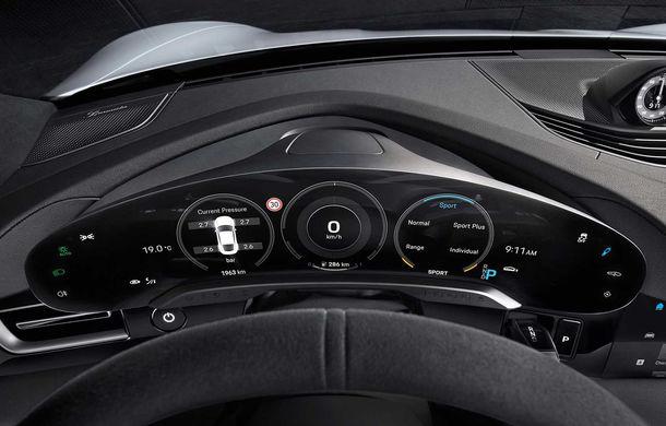 Porsche prezintă interiorul sportivei electrice Taycan: 5 ecrane, inclusiv unul de 16.8 inch și unul opțional pentru pasagerul din dreapta - Poza 1