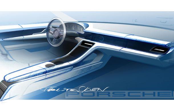 Porsche prezintă interiorul sportivei electrice Taycan: 5 ecrane, inclusiv unul de 16.8 inch și unul opțional pentru pasagerul din dreapta - Poza 6