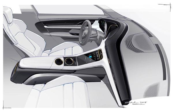 Porsche prezintă interiorul sportivei electrice Taycan: 5 ecrane, inclusiv unul de 16.8 inch și unul opțional pentru pasagerul din dreapta - Poza 5