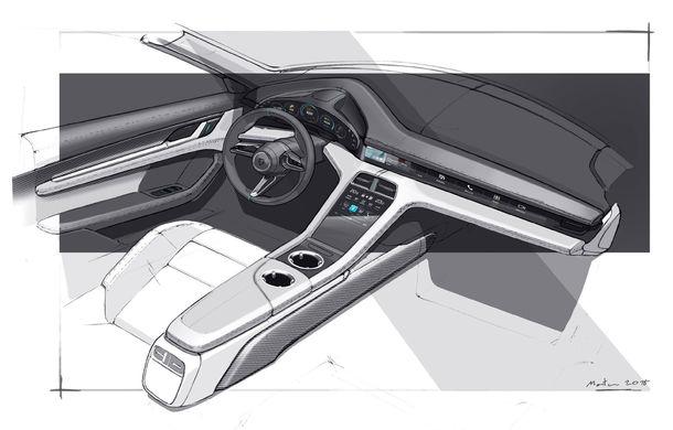 Porsche prezintă interiorul sportivei electrice Taycan: 5 ecrane, inclusiv unul de 16.8 inch și unul opțional pentru pasagerul din dreapta - Poza 4