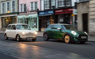 Mini împlinește 60 de ani: de la legendarele Morris Mini-Minor şi Austin Seven până la noul model electric Cooper SE
