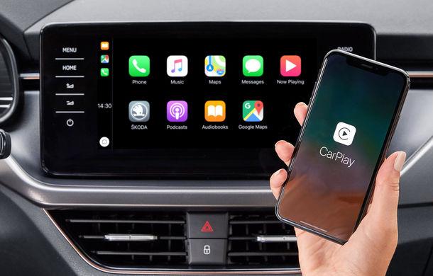 Skoda introduce conexiuni Apple CarPlay și Android Auto fără fir: Scala și Kamiq, primele modele care vor beneficia de noul sistem - Poza 1