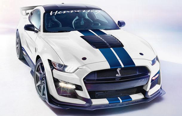 Pachete de performanță pentru Shelby GT500: până la 1.200 CP mulțumită americanilor de la Hennessey - Poza 1