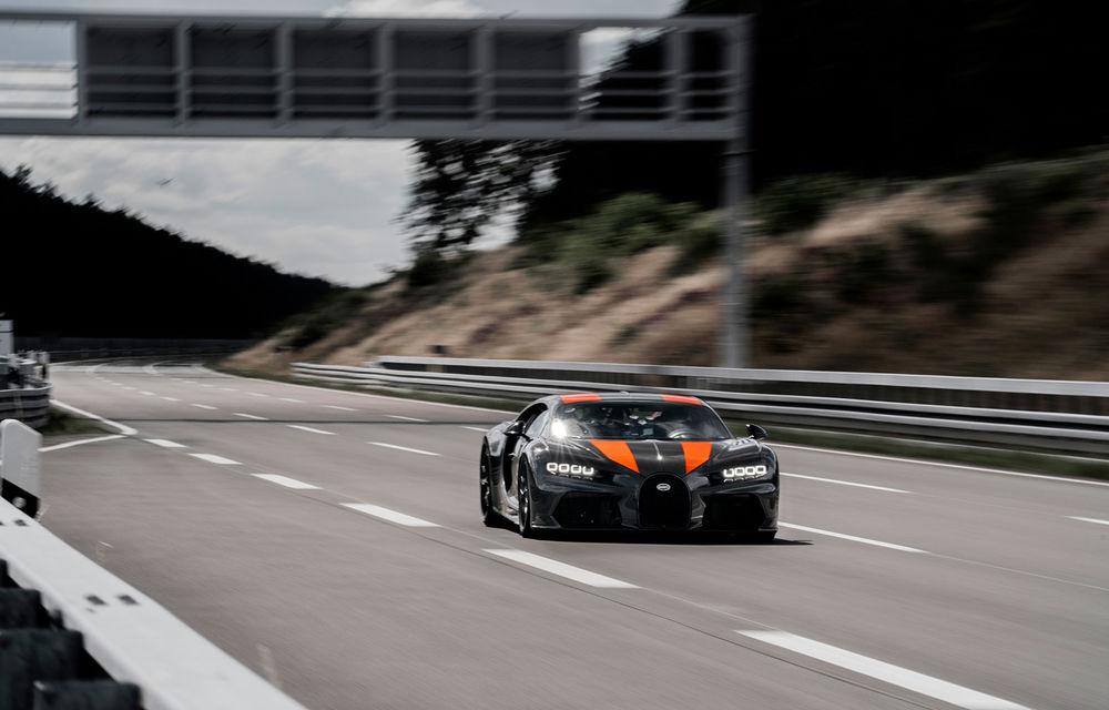 Un prototip al actualului Bugatti Chiron a stabilit un nou record de viteză: modelul din Molsheim a trecut de bariera celor 490 km/h - Poza 3