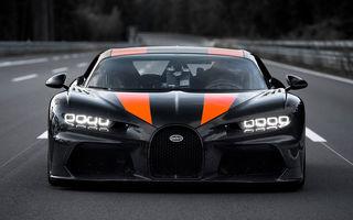 Un prototip al actualului Bugatti Chiron a stabilit un nou record de viteză: modelul din Molsheim a trecut de bariera celor 490 km/h