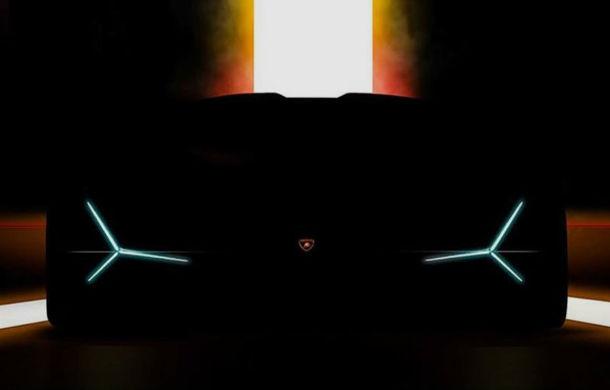 Teaser video cu viitorul model pregătit de Lamborghini: supercar-ul va fi prezentat la Frankfurt - Poza 1