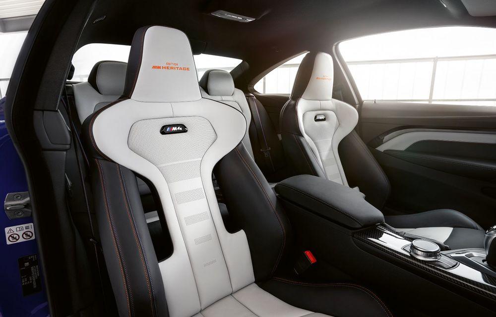 Ediție limitată pentru actualul BMW M4 Coupe: versiunea M Heritage propune culori speciale pentru caroserie, accesorii noi de interior și motorizare cu 450 CP - Poza 12
