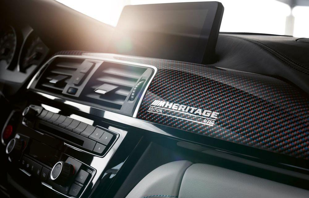 Ediție limitată pentru actualul BMW M4 Coupe: versiunea M Heritage propune culori speciale pentru caroserie, accesorii noi de interior și motorizare cu 450 CP - Poza 14