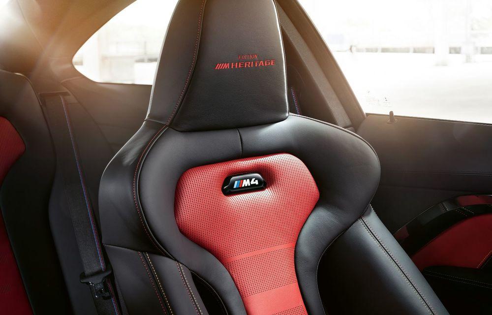 Ediție limitată pentru actualul BMW M4 Coupe: versiunea M Heritage propune culori speciale pentru caroserie, accesorii noi de interior și motorizare cu 450 CP - Poza 15