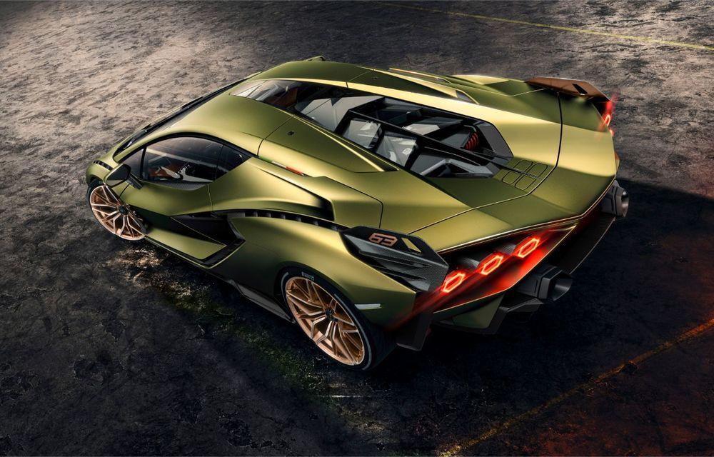 Sian, cel mai puternic Lamborghini de serie de până acum: sistem mild-hybrid la 48V cu supercapacitor, 819 CP și sub 2.8 secunde pentru 0-100 km/h - Poza 16