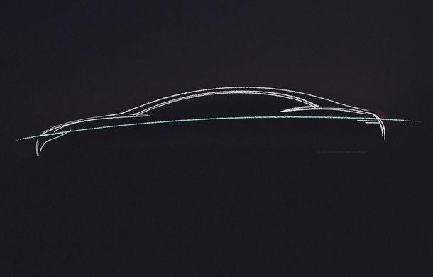Prima schiță cu noul concept electric pregătit de Mercedes-Benz: prezentarea oficială va avea loc în septembrie - Poza 1