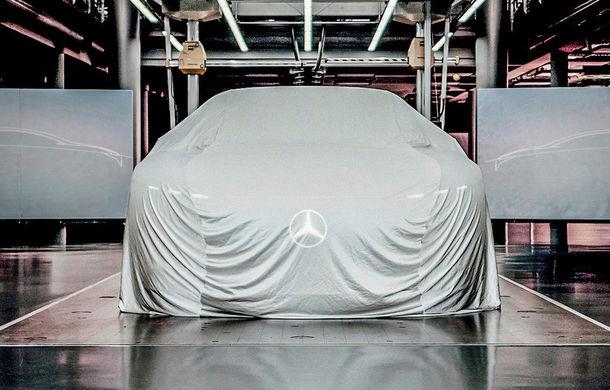 Prima schiță cu noul concept electric pregătit de Mercedes-Benz: prezentarea oficială va avea loc în septembrie - Poza 2