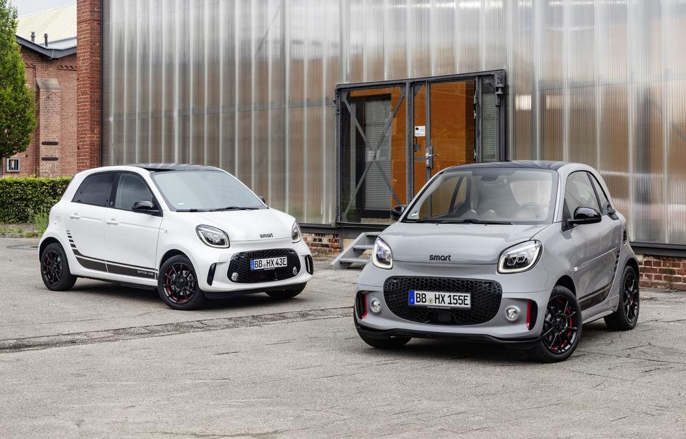 Smart prezintă EQ Fortwo și EQ Forfour facelift: cele două modele rămân doar cu versiuni electrice - Poza 1