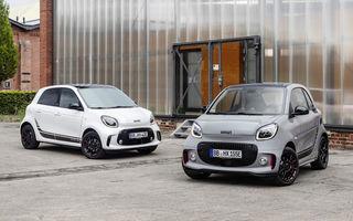 Smart prezintă EQ Fortwo și EQ Forfour facelift: cele două modele rămân doar cu versiuni electrice