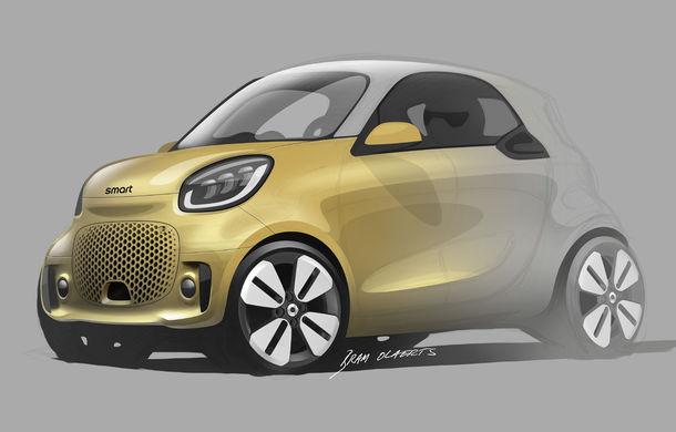 Smart prezintă EQ Fortwo și EQ Forfour facelift: cele două modele rămân doar cu versiuni electrice - Poza 14