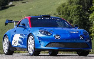 Alpine a dezvoltat o versiune de raliuri pentru modelul A110: sportiva francezilor oferă peste 300 CP și transmisie secvențială cu șase trepte