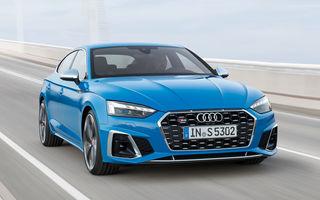 Îmbunătățiri pentru gama Audi A5: mici modificări de design, motorizări mild-hybrid și versiune S5 TDI cu 347 CP
