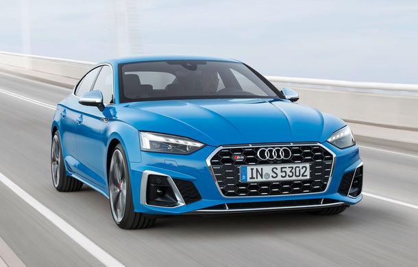 Îmbunătățiri pentru gama Audi A5: mici modificări de design, motorizări mild-hybrid și versiune S5 TDI cu 347 CP - Poza 1