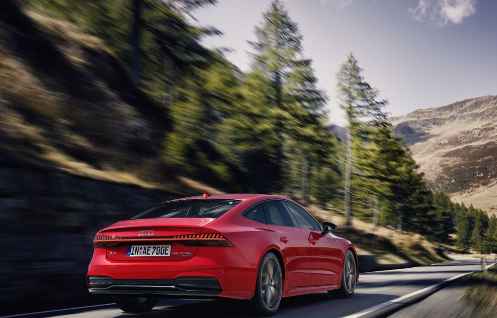 Audi A7 Sportback primește o versiune plug-in hybrid: 367 CP, tracțiune integrală și autonomie electrică de peste 40 de kilometri - Poza 12